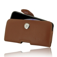 Leather Horizontal Pouch Case with Belt Clip for Apple iPhone XS ( Compatible with 1.0 mm Slim Case / Cover on ) (Brown)