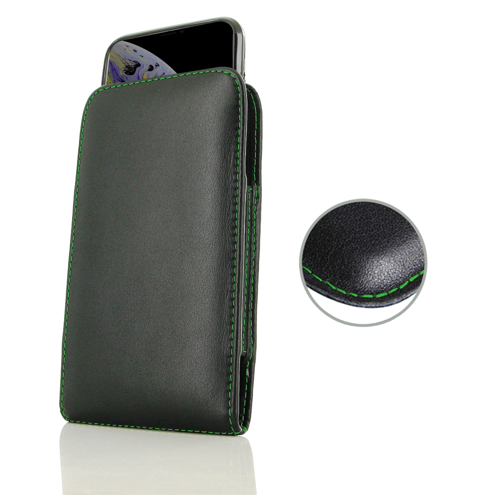 10% OFF + FREE SHIPPING, Buy the BEST PDair Handcrafted Premium Protective Carrying iPhone XS (in Slim Cover) Pouch Case (Green Stitch). Exquisitely designed engineered for iPhone XS.