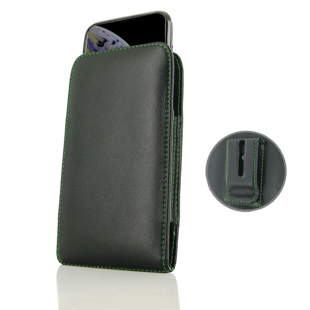 10% OFF + FREE SHIPPING, Buy the BEST PDair Handcrafted Premium Protective Carrying iPhone XS (in Slim Cover) Pouch Clip Case (Green Stitch). Exquisitely designed engineered for iPhone XS.