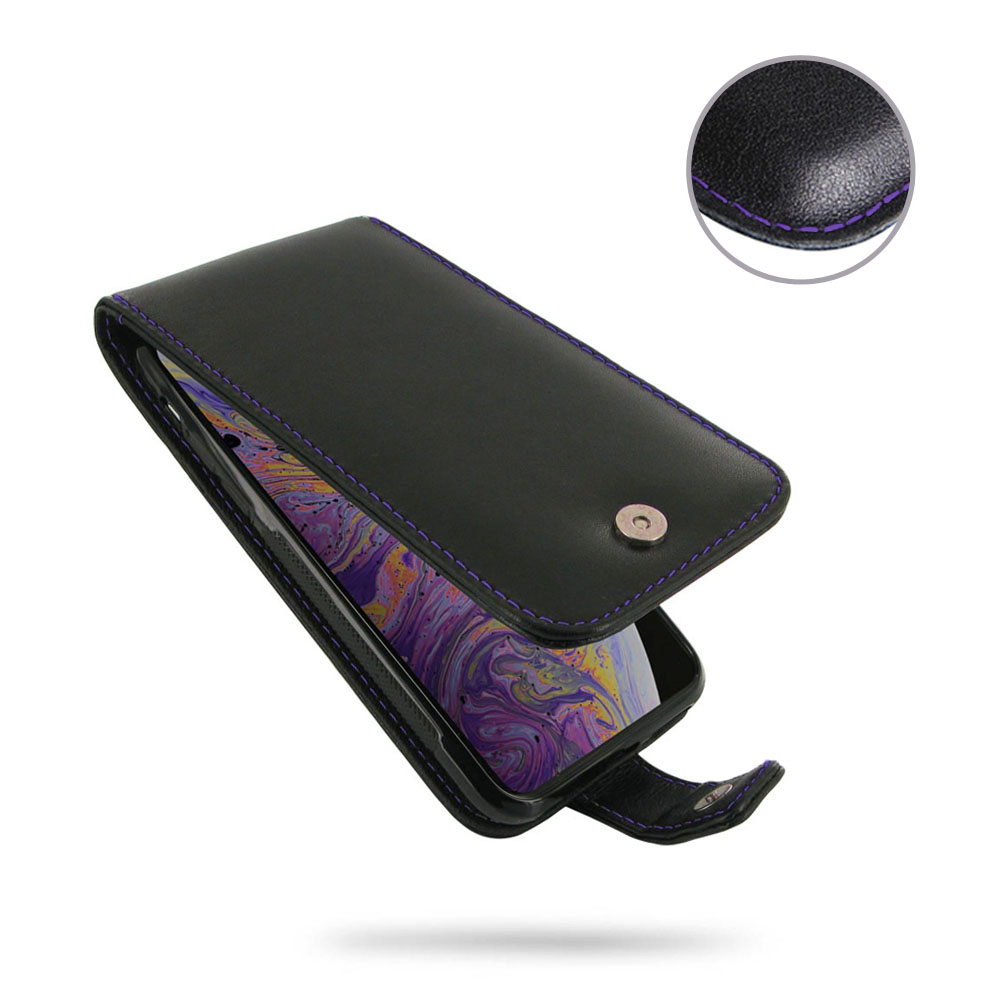 10% OFF + FREE SHIPPING, Buy the BEST PDair Handcrafted Premium Protective Carrying iPhone XS Leather Wallet Flip Case (Purple Stitch). Exquisitely designed engineered for iPhone XS.