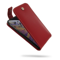 Leather Flip Top Wallet Case for Apple iPhone XS (Red)