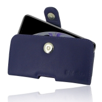 Leather Horizontal Pouch Case with Belt Clip for Apple iPhone XS (Purple)