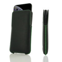 Leather Pocket for Apple iPhone XS (Green Stitch)