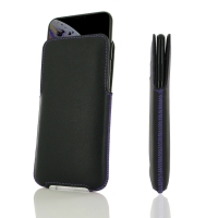 Leather Pocket for Apple iPhone XS (Purple Stitch)