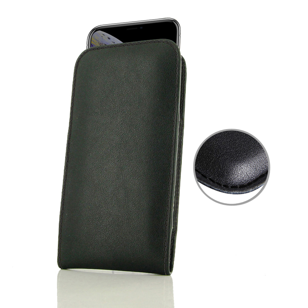 10% OFF + FREE SHIPPING, Buy the BEST PDair Handcrafted Premium Protective Carrying iPhone XS Leather Sleeve Pouch Case (Black Stitch). Exquisitely designed engineered for iPhone XS.