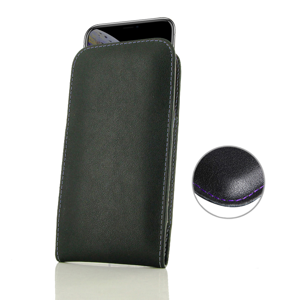 10% OFF + FREE SHIPPING, Buy the BEST PDair Handcrafted Premium Protective Carrying iPhone XS Leather Sleeve Pouch Case (Purple Stitch). Exquisitely designed engineered for iPhone XS.