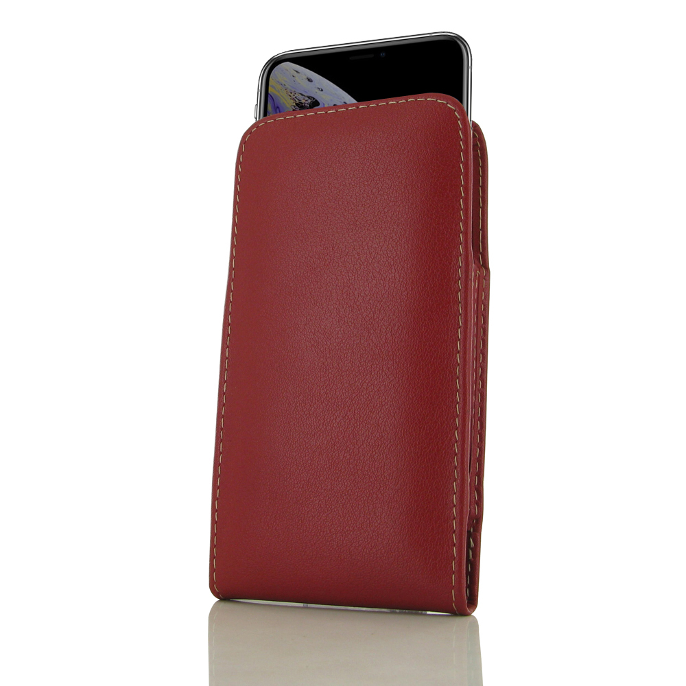 10% OFF + FREE SHIPPING, Buy the BEST PDair Handcrafted Premium Protective Carrying iPhone XS Leather Sleeve Pouch Case (Red). Exquisitely designed engineered for iPhone XS.