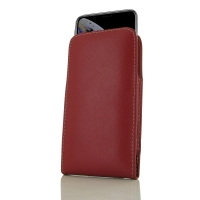 Leather Vertical Pouch Case for Apple iPhone XS (Red)