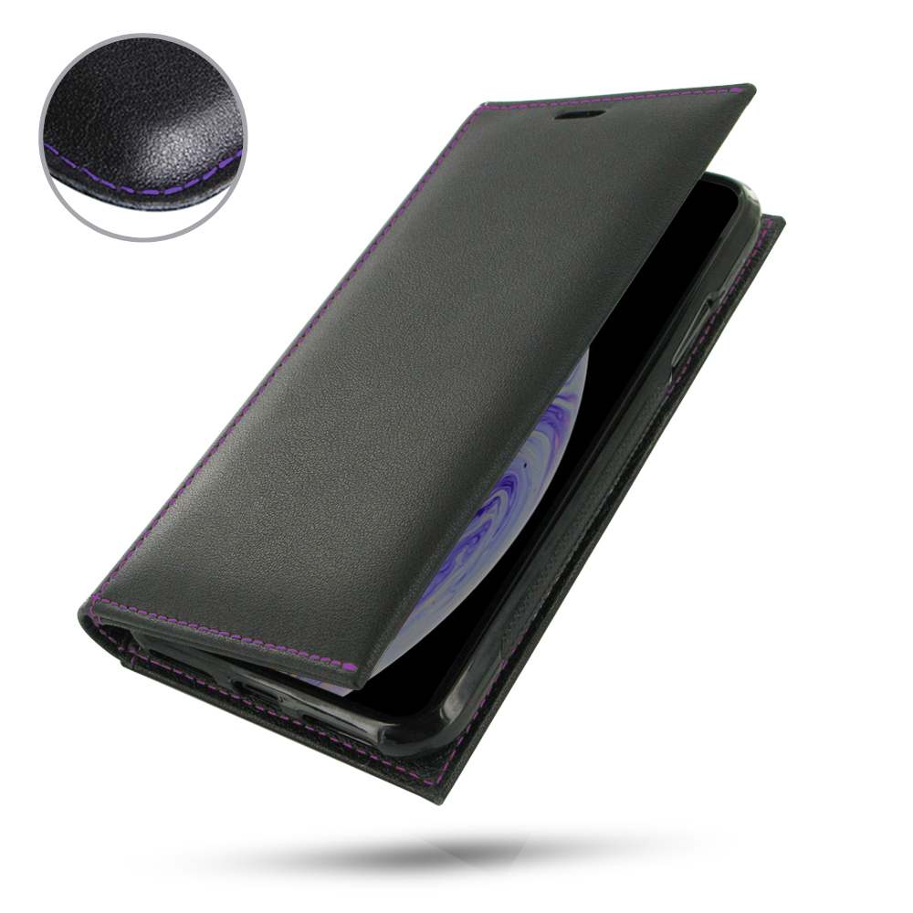 10% OFF + FREE SHIPPING, Buy the BEST PDair Handcrafted Premium Protective Carrying iPhone XS Leather Folio Flip Wallet Case (Purple Stitch). Exquisitely designed engineered for iPhone XS.