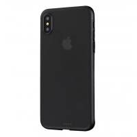 0.3mm Ultra thin Plastic Back Case Cover for Apple iPhone XS Max (Black)