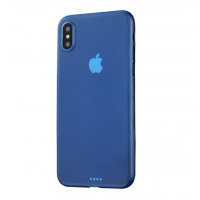 0.3mm Ultra thin Plastic Back Case Cover for Apple iPhone XS Max (Blue)