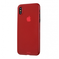 0.3mm Ultra thin Plastic Back Case Cover for Apple iPhone XS Max (Red)