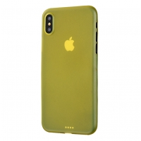 0.3mm Ultra thin Plastic Back Case Cover for Apple iPhone XS Max (Yellow)