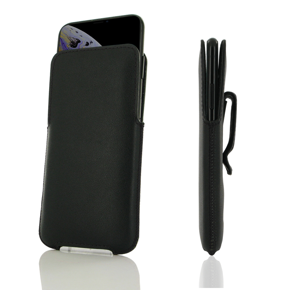 10% OFF + FREE SHIPPING, Buy the BEST PDair Top Quality Handmade Premium Protective Carrying iPhone XS Max Luxury Pouch Case with Belt Clip (Black Stitch). Exquisitely designed engineered for iPhone XS Max.