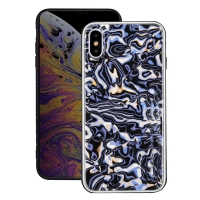 Natural Sea Shell Pattern Protective Fashion Case for Apple iPhone XS Max (Blue Shell Pattern)