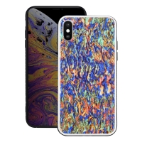 Natural Sea Shell Pattern Protective Fashion Case for Apple iPhone XS Max (Colorful Pattern)