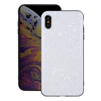 Natural Sea Shell Pattern Protective Fashion Case for Apple iPhone XS Max (Crystal White)