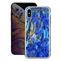 Natural Sea Shell Pattern Protective Fashion Case for Apple iPhone XS Max (Fantasy Sand Pattern)