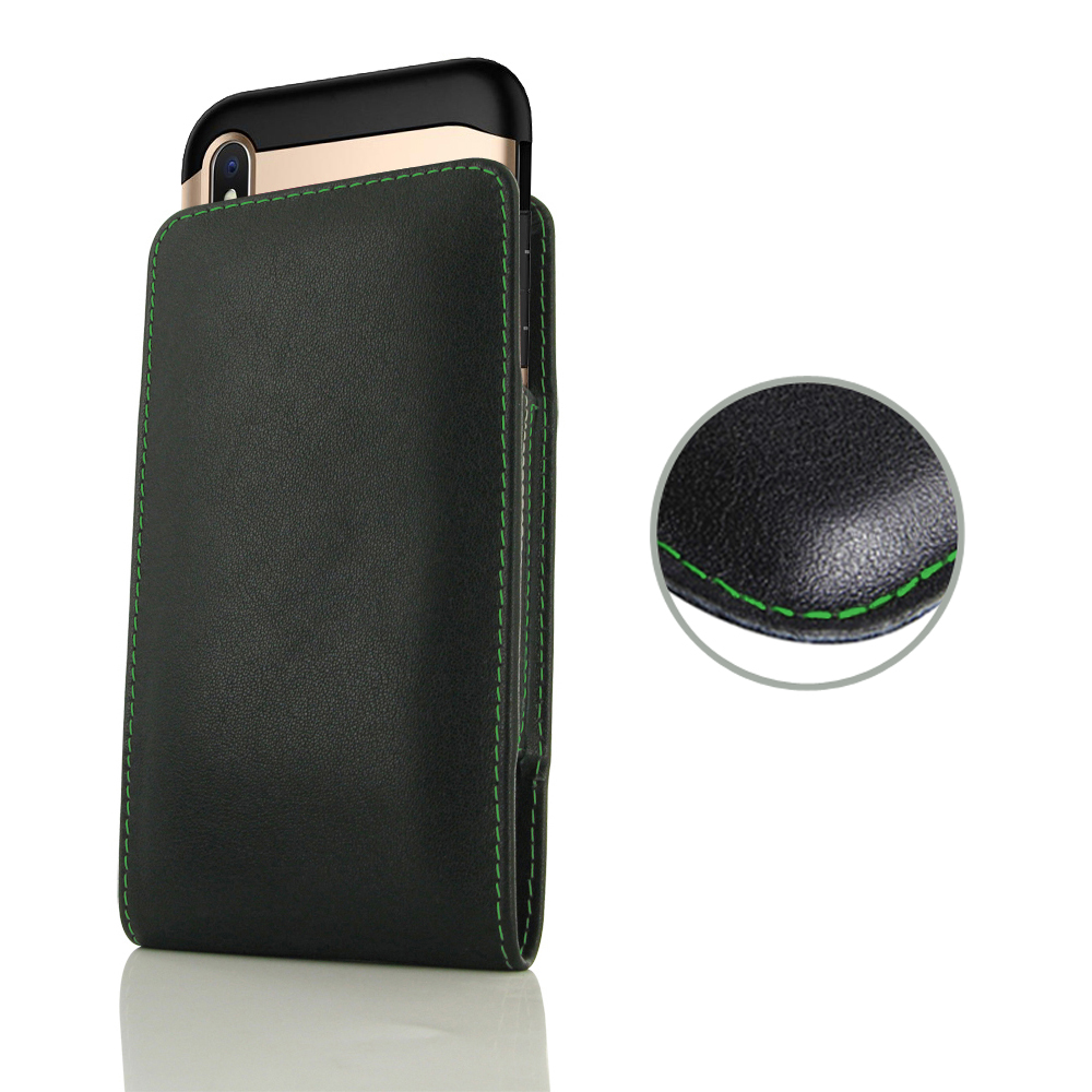 10% OFF + FREE SHIPPING, Buy the BEST PDair Handcrafted Premium Protective Carrying iPhone XS Max (in Large Size Cover) Pouch Case (Green Stitch). Exquisitely designed engineered for iPhone XS Max.