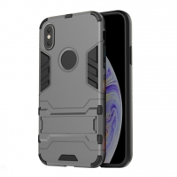 Apple iPhone XS Max Tough Armor Protective Case (Grey)