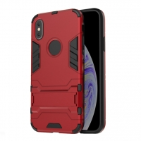 Apple iPhone XS Max Tough Armor Protective Case (Red)
