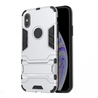 Apple iPhone XS Max Tough Armor Protective Case (Silver)