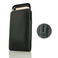 Leather Vertical Pouch Belt Clip Case for Apple iPhone XS (in Large Size Armor Protective Case Cover)