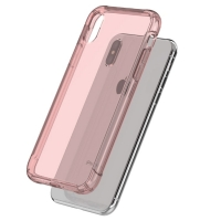 Soft Clear Case Back Cover for Apple iPhone XS (Pink)