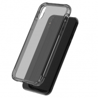 Ultra Thin Soft Clear Case Back Cover for Apple iPhone XS(Black)