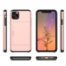 iPhone 11 Pro Max Armor Protective Case with Card Slot (Rose Gold) Wide selection of colors and patterns by PDair