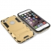 iPhone 7 Tough Armor Protective Case (Gold) genuine leather case by PDair