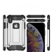 iPhone XS Hybrid Dual Layer Tough Armor Protective Case (Silver) best cellphone case by PDair