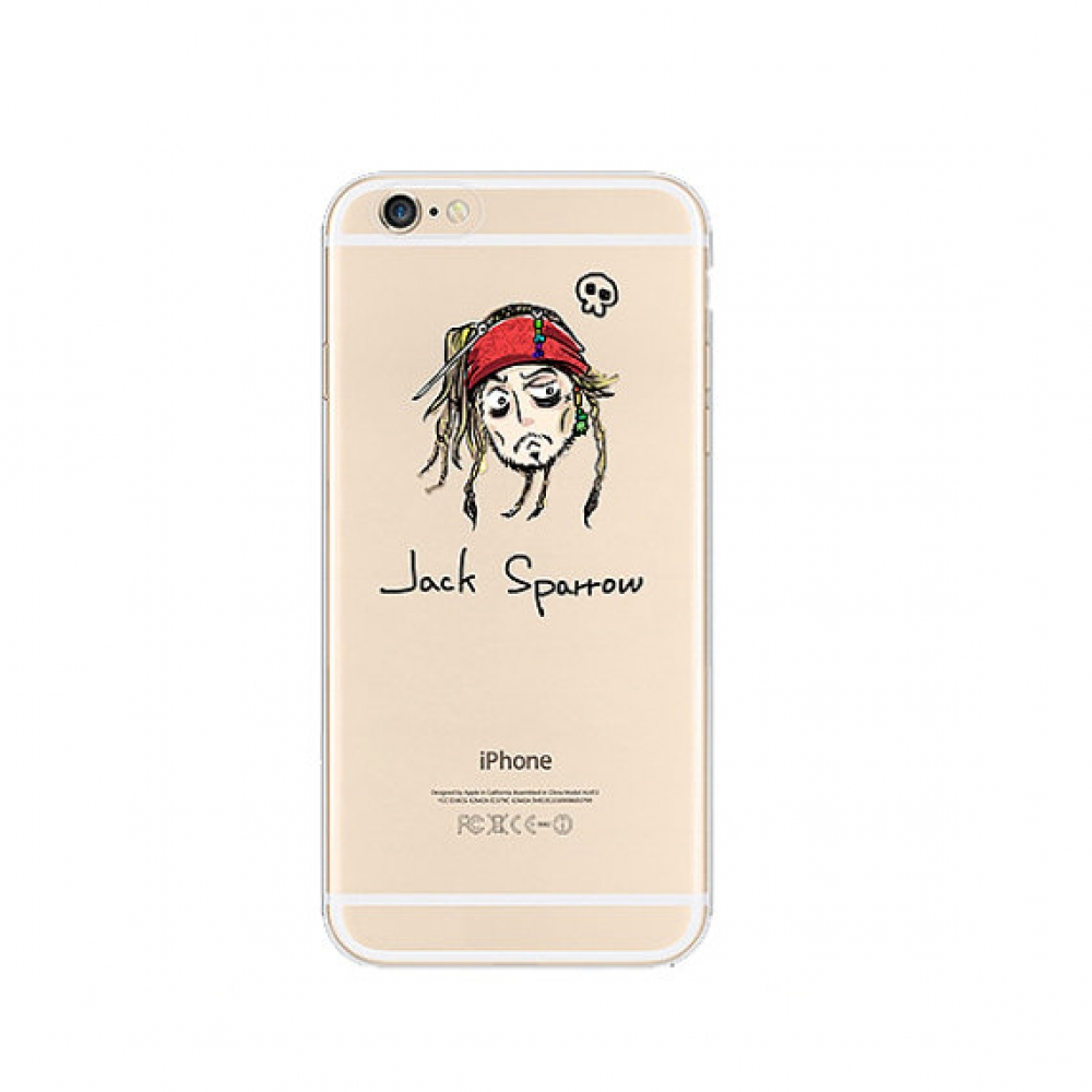 10% OFF + FREE SHIPPING, Buy PDair iPhone Pattern Printed Soft Clear Case Jack Sparrow Piraten which is available for iPhone 5 | iPhone 5s SE 6 6s, iPhone 6 Plus | iPhone 6s Plus. You also can go to the customizer to create your own stylish leather case i