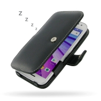 Leather Book Case for Motorola Moto G (Gen 3)