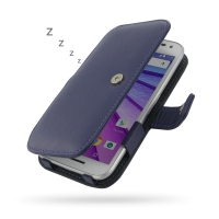 Leather Book Case for Motorola Moto G (Gen 3) (Purple)