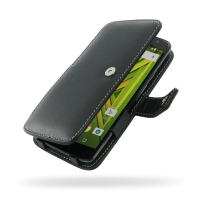 Leather Book Case for Motorola Moto X Play