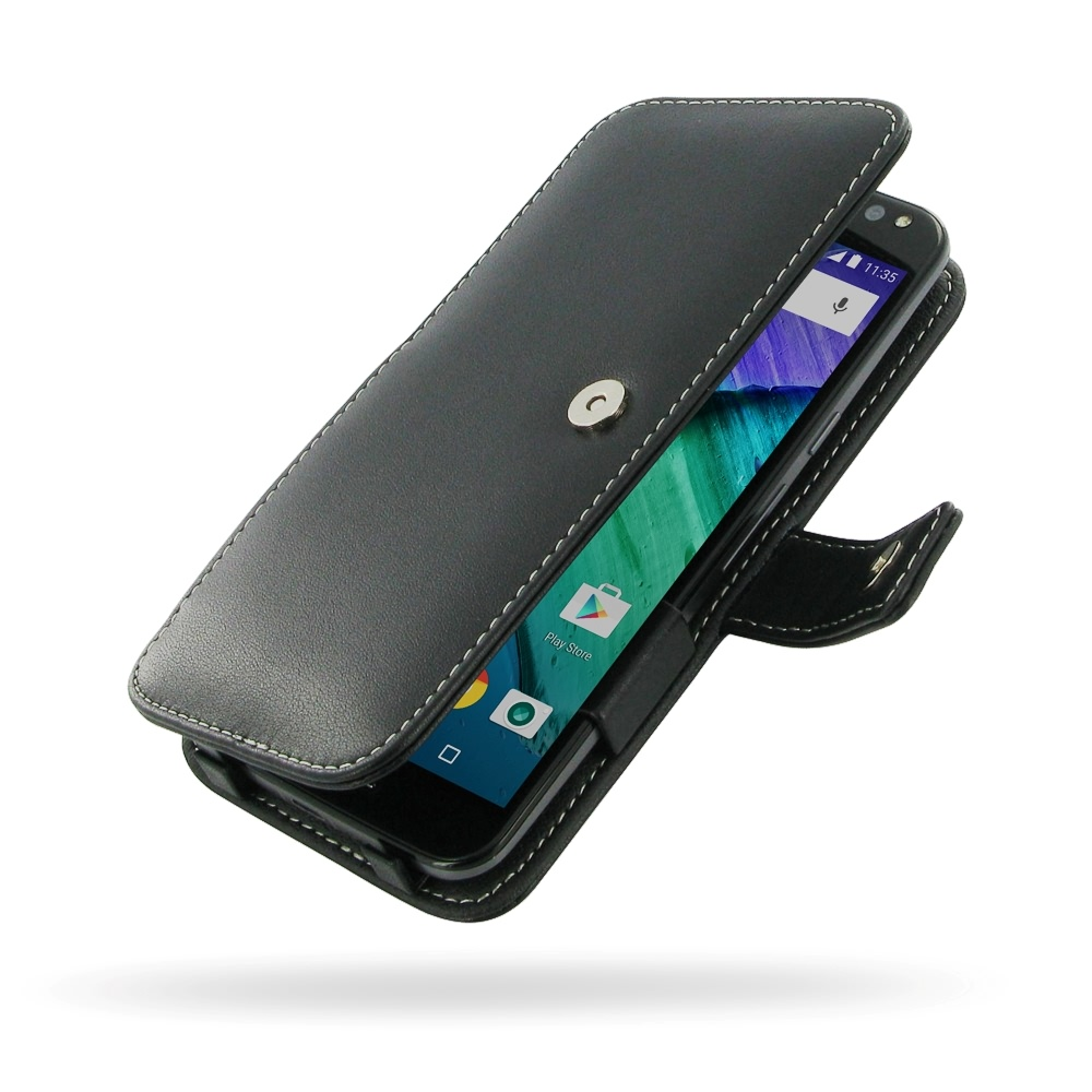 lowest price 43c35 56093 Leather Book Case for Motorola Moto X Style / Pure Edition