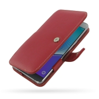Leather Book Case for Samsung Galaxy Note 5 | Samsung Galaxy Note5 (Red)