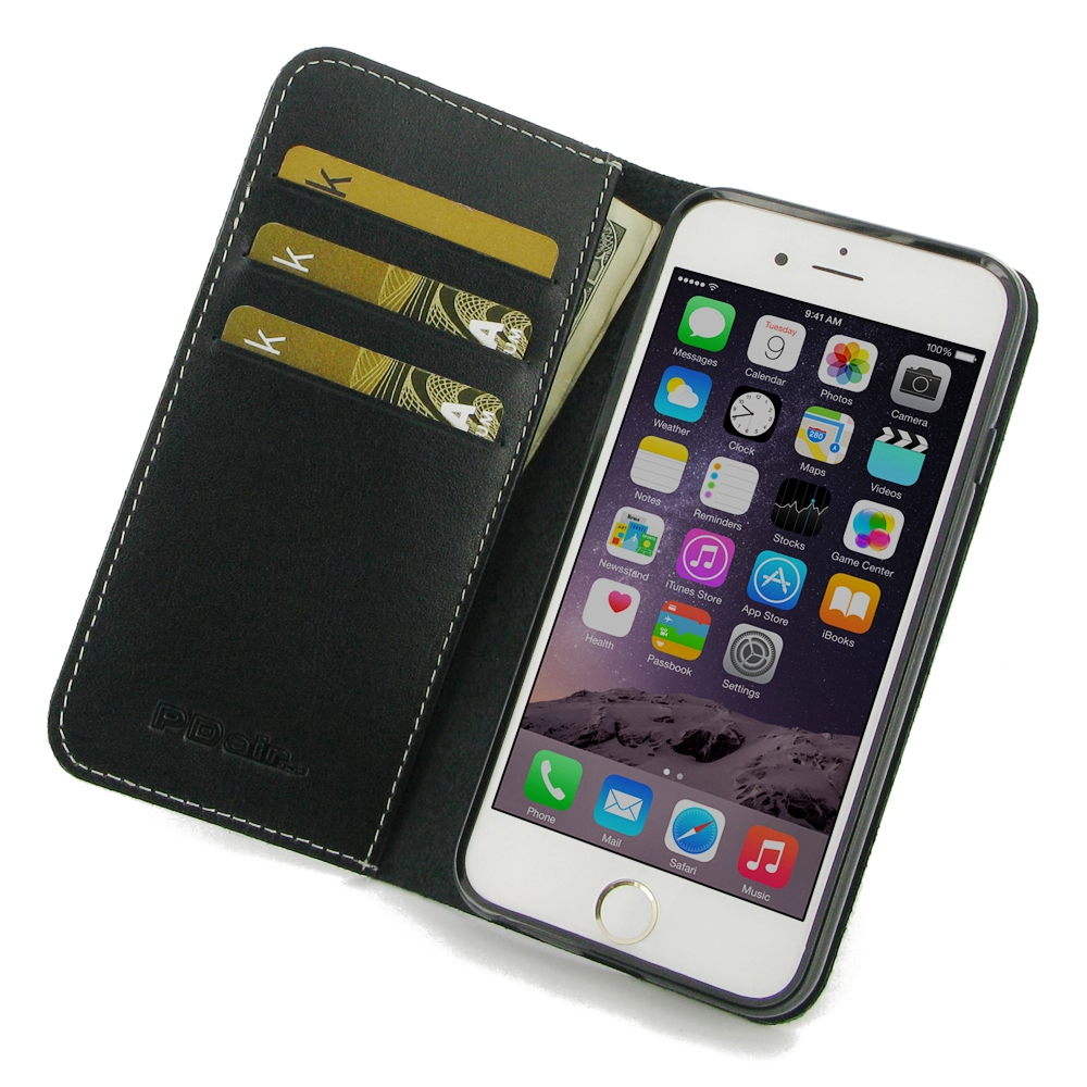 iPhone 6 6s Plus Leather Folio Flip Wallet Case :: PDair ...