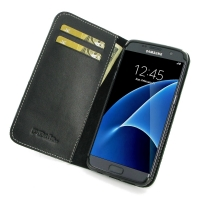 Samsung Galaxy S7 edge Leather Smart Flip Wallet Case PDair Premium Hadmade Genuine Leather Protective Case Sleeve Wallet