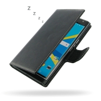 BlackBerry Priv Leather Flip Wallet Cover PDair Premium Hadmade Genuine Leather Protective Case Sleeve Wallet