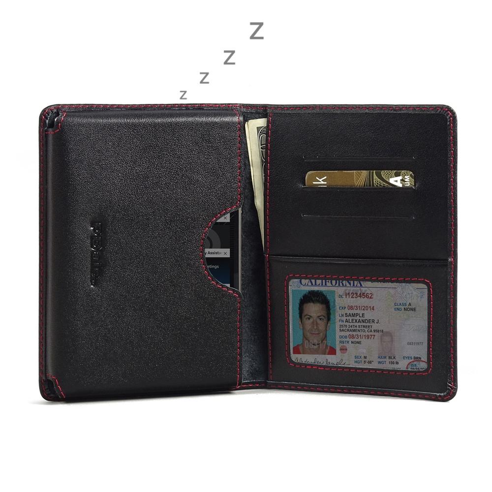 BlackBerry Passport Silver Edition Wallet Sleeve Case Red