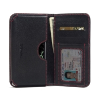 LG Zero Leather Wallet Sleeve Case (Red Stitch) PDair Premium Hadmade Genuine Leather Protective Case Sleeve Wallet