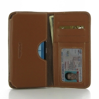 Leather Card Wallet for Microsoft Lumia 950 (Brown)