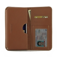 Leather Card Wallet for OPPO A53 (Brown)