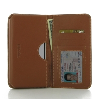 Leather Card Wallet for Pepsi Phone P1 P1s (Brown)