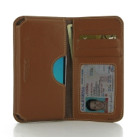 Leather Card Wallet for Samsung Galaxy J1 (2016) (Brown)