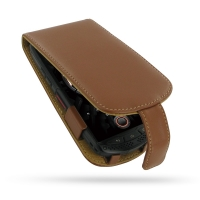 KYOCERA TORQUE G01 Leather Flip Case (Brown) PDair Premium Hadmade Genuine Leather Protective Case Sleeve Wallet