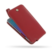 Leather Flip Top Case for Samsung Galaxy Note 5 | Samsung Galaxy Note5 (Red)