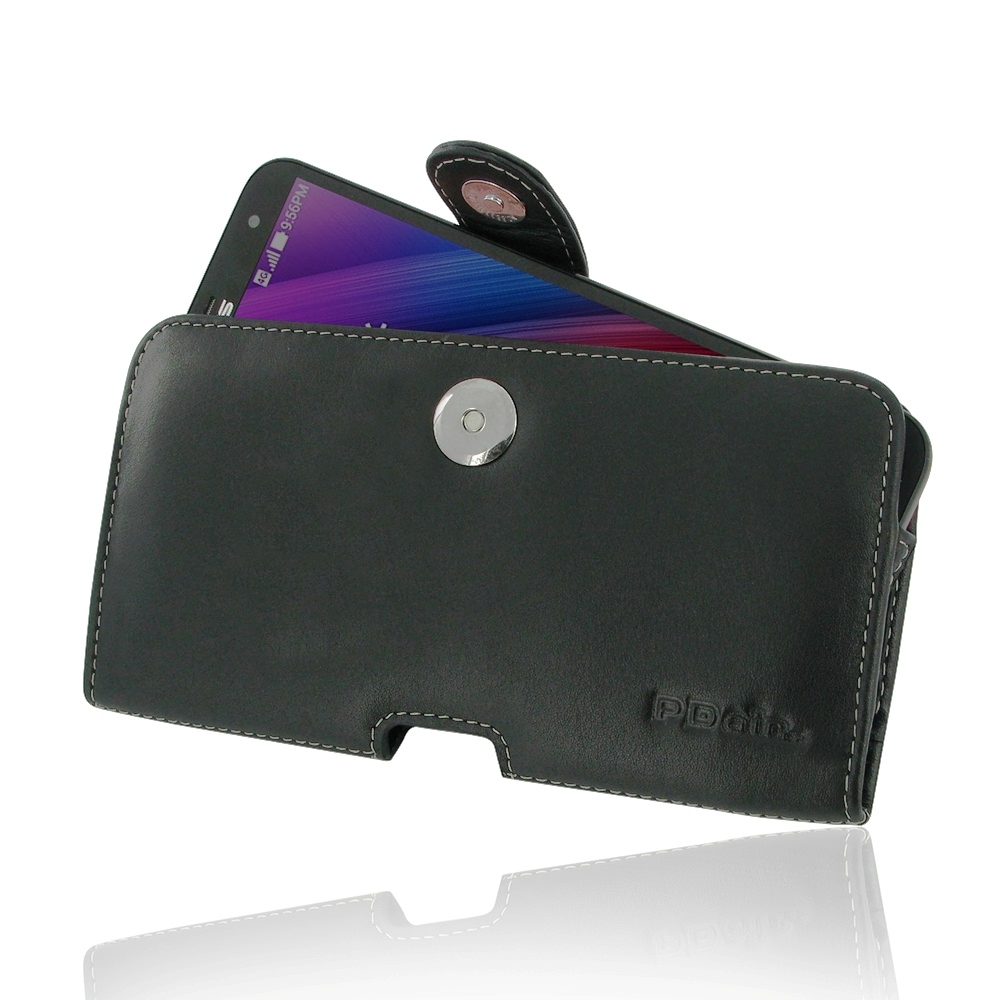 huge discount 79e6d 2cef4 Leather Horizontal Pouch Case with Belt Clip for Asus Zenfone 2 Laser 6.0